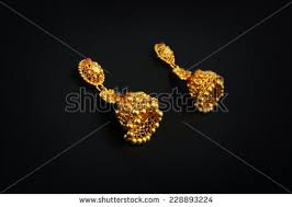 gold kaan earrings indian gold jewellery stock images royalty free images vectors