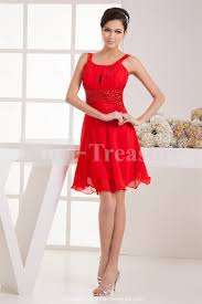 red dresses for women red short chiffon elastic woven satin