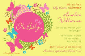 baby shower for girl how to create butterfly baby shower invitations templates