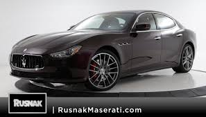 black maserati sedan maserati ghibli in pasadena ca rusnak auto group
