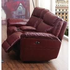 red leather match dual reclining loveseat k motion rc willey