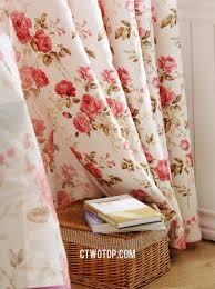 Curtain Catalogs And Pink Romantic Floral Rustic Country Style Curtains