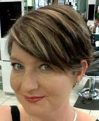 best highlights for pixie dark brown hair my short dark brown hair with fine blonde highlights my