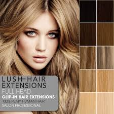 lush hair extensions clip in remy human hair extensions