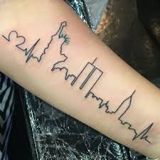 nyc skyline tattoo ideas google search tattoos pinterest