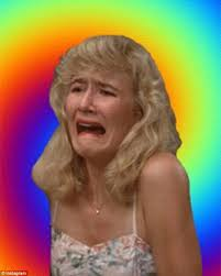 Meme Laura - laura dern sports a t shirt with her own crying face on it daily