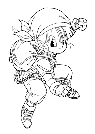 dragon ball z goku super saiyan four ready to fight with coloring
