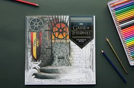 winter is coming inside the hbo game of thrones coloring book