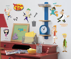 amazon com roommates rmk1536scs phineas and ferb peel u0026 stick