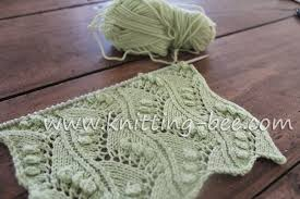 zig zag knitting stitch pattern lace vertical zig zag with bobbles free knitting stitch knitting bee