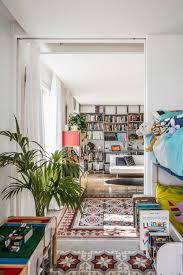 small apartment renovation with room layout rearrangement idea mosaic encaustic tiles flooring kid bedroom interior decorating ideas