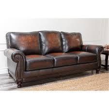 Abbyson Leather Sofa Reviews Abbyson Living Ci N180 Brn 3 Barclay Rubbed Leather Sofa