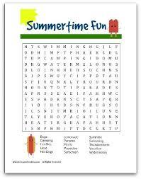 crayon freckles summer fun word search free printable