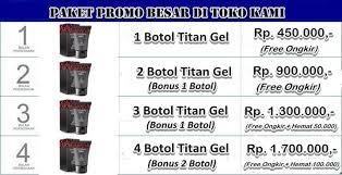 harga titan gel asli