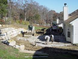 How To Regrade A Backyard Walls U0026 Patios 2