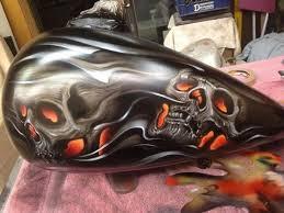 custom paint job harley davidson honda yamaha suzuki custom