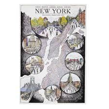 Nyc Marathon Route Map by New York Marathon Map New York Marathon Artwork Route Map