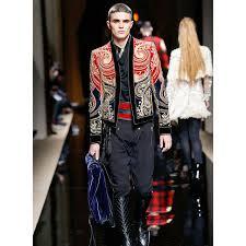 designer jacke runway 2017 fashion barock designer jacke männer
