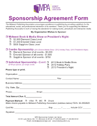 corporate sponsorship proposal template forms fillable