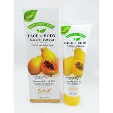 Scrub Gel papaya cleansing scrub gel buy papaya cleansing scrub gel at