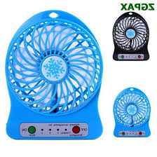 battery operated desk fan wholesale portable rechargeable led fan air cooler mini operated