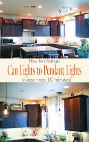 Changing Recessed Lighting To Pendant Lighting Change Can Lights To Pendant Lights In Less Than 10 Minutes On