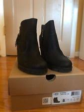 ugg australia s emalie waterproof wedge boot 7us stout brown ugg australia wedge ankle boots for ebay