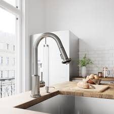 Vigo Stainless Steel Pull Out Kitchen Faucet Faucet Com Vg02012st In Stainless Steel By Vigo