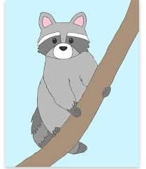 Raccoon Nursery Decor Raccoon Nursery Raccoon Wall Woodland Nursery Decor