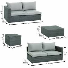 Patio Wicker by Royal Garden Nelson 4 Piece Woven Sectional Set With Cushion Storage