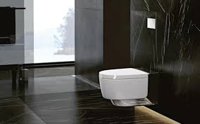 Bathroom In Black Discover The Feeling Of Absolute Cleanliness With Aquaclean Sela