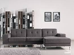 grey fabric modern living room sectional sofa w wooden legs casa forli modern grey fabric sectional sofa w right facing chaise