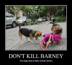 Barney Meme - beagles trying to kill barney by the2ndeinstein on deviantart