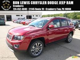 jeep red 2017 2017 deep cherry red crystal pearl jeep compass high altitude 4x4