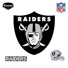 fathead 40 in h x 38 in w oakland raiders logo wall mural 14 w oakland raiders logo wall mural