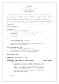 sample resume for senior business analyst uk resume example