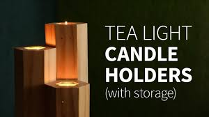 can you use tea light candles without holders diy tea light candle holder w storage how to youtube