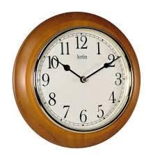 acctim 24170 maine wall clock cherry amazon co uk kitchen u0026 home