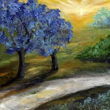 blue trees painting by swink