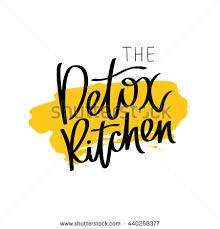 cuisine detox detox kitchen trend calligraphy vector illustration stock vector