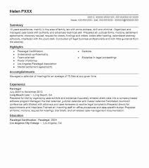Family Law Attorney Resume Sample by Best Paralegal Resume Example Livecareer