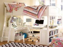 Bunk Beds And Desk Bedroom Pretty Wyatt White Loft Bed Unit With Desk And Chair