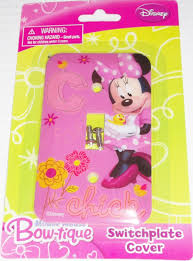 amazon com disney minnie mouse bow tique switchplate cover