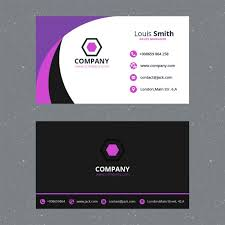 purple business card template psd file free