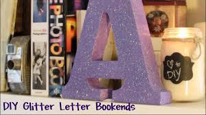 diy glitter letter bookends super easy youtube