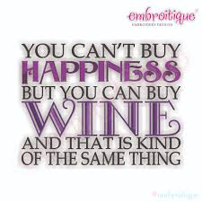 free kitchen embroidery designs embroitique you can u0027t buy happiness but you can buy wine