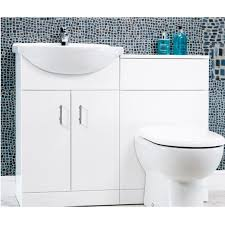 Basin And Toilet Vanity Unit Jupiter Bathrooms 550mm Combination Unit With Back To Wall D