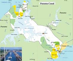 Trinidad World Map by Map Of Panama Canal