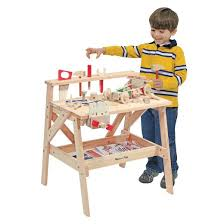 Toy Wooden Tool Bench Melissa U0026 Doug Solid Wood Project Workbench Play Building Set