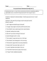 circling possessive nouns worksheet advanced pinterest